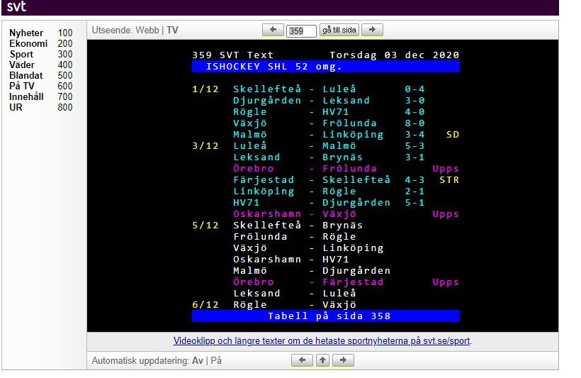 text tv 358